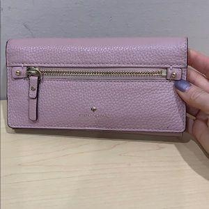 Pink Kate Spade full-size wallet wristlet